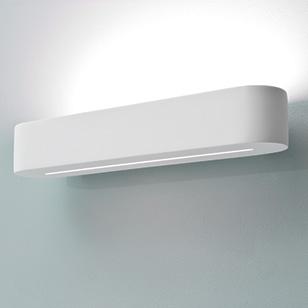 Wall Lights Plaster Finish : Astro Lighting Veneto 400 Modern Low Energy Wall Light In A White Plaster Finish - review ...