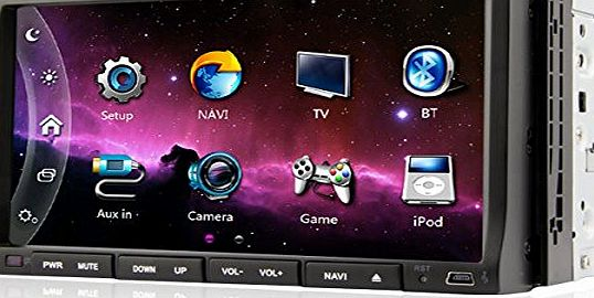 In Dash 2-Din Car stereo sat nav DVD Player GPS Navigation System Bluetooth with IPOD Ready