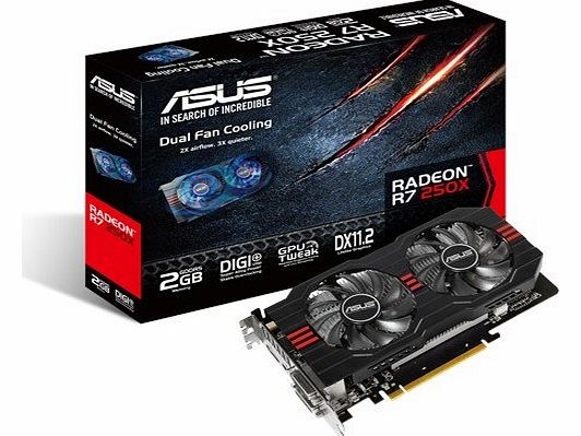 ASUS  AMD Radeon R7 250X Graphics Card (2GB, GDDR5, PCI Express 3.0) product image
