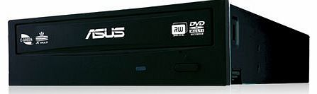 ASUS  DVD-RW Drive (DRW-24F1ST/BLK/AS, S-ATA, DVDR: 24x, CD-R: 48x, E-Green, Disc Encryption II) product image