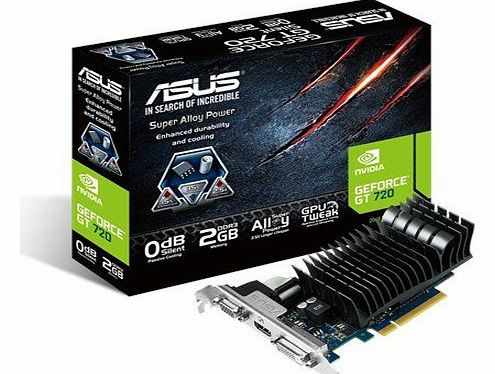 ASUS  Nvidia GeForce GT 720 Silent Graphics Card (2GB, GDDR3, PCI Express 2.0) product image