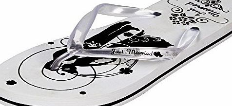ASVP Shop Just Married Honeymoon Flip Flops Wedding Gift Mr amp; Mrs Bride Groom Sandles