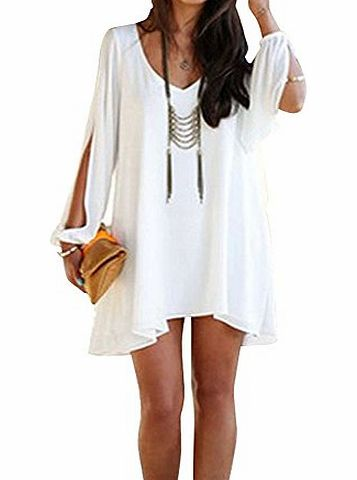 atdoshop (TM) 1PC Sexy Women Lady Summer Casual Party Evening Cocktail Short Mini Dress White (M) product image