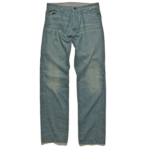 The Flangi Jean From Atikin Feature a Classic Vintage `River` Wash With Unusual Assymetrical Yoke Panel and Seam finishing. A premium Jean from the Young Vibrant Icelandic Brand. - CLICK FOR MORE INFORMATION