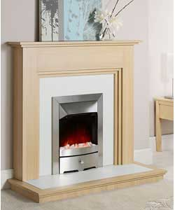 Oak Electric Fire Suite