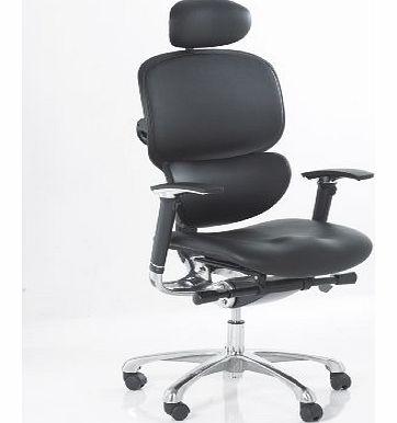 atlantis office wave ergonomic full leather chair with leather headrest orthopaedic posture. Black Bedroom Furniture Sets. Home Design Ideas
