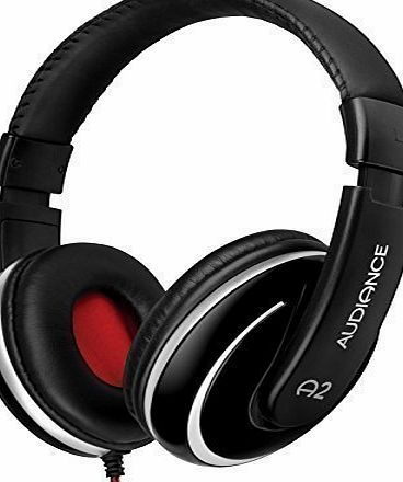 Audiance A2 Premium Over Ear Stereo Headphones in Black amp; Silver (3.5mm Jack)