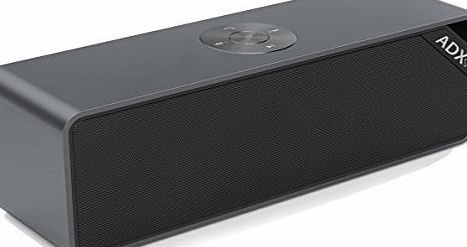 Audio Dynamix Bluetooth Speaker Fusion V3, Portable Stereo Wireless Speaker. Featuring Bluetooth V4.0 with NFC pairing and 20hr playtime - Full Aluminium construction - Iron Grey. High power speaker with dual bass