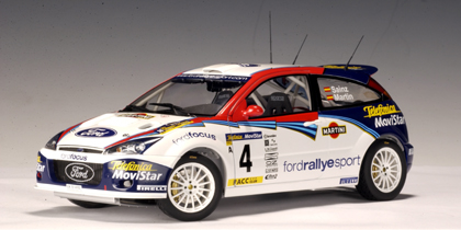 2002 Ford Focus WRC Car No.4 C Sainz L Martin
