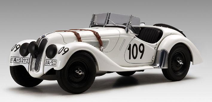 AUTOart BMW 328 Roadster Mille Miglia 1938 #109 White