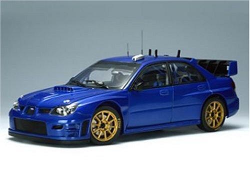 Subaru Impreza WRC S12, Kris Meeke, Rally Ireland 2007, 1/18 AA Autoart-subaru-impreza-wrc-2006-plain-body-blue-in-metallic-blue-118-scale-
