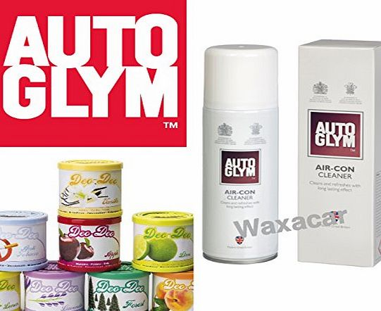 Autoglym Vehicle Car Air Con Conditioning Cleaner amp; Disinfectant   FREE Deo Deo Air Freshener Can