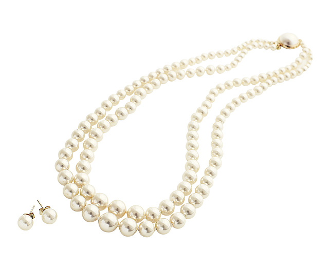 Pearls - 18 inch Double Strand Necklace