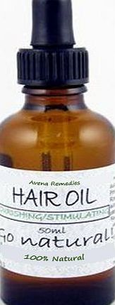 Avena Remedies Natural Hair Growth Oil 50ml: Scalp Stimulating Aromatherapy Treatment, parabens free, SLS free