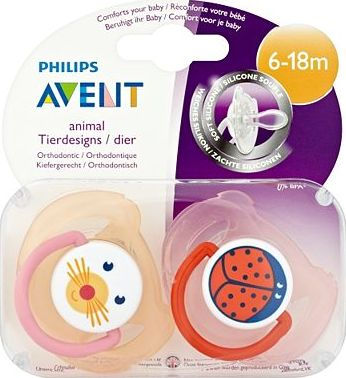 Avent, 2041[^]10081458 Philips AVENT 2 Animal Orthodontic Soothers