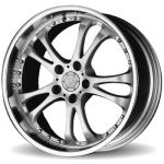 AP30 Hyper Silver Mirror Rim Wheels Only