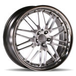 AP40 Silver with Chrome Lip Alloy Wheels