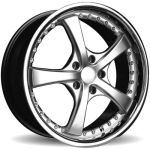 AP41 Silver with Chrome Lip Alloy Wheels