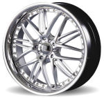 AP42 Silver with Chrome Lip Alloy Wheels