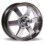 Envy Silver with Chrome Lip Alloy Wheels