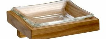 Solid Oak Oak Effect Soap Dish