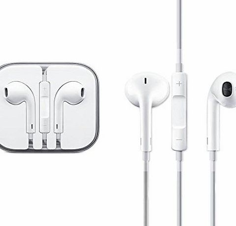 B-Tech Earphone, Earpod With Microphone and Remote For iPhone, iPod, iPad No-Retail Packaging Comes In Crystal Hard Case - AnD Retail