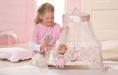Baby annabell metal canopy bed baby annabell blanket zapf creation