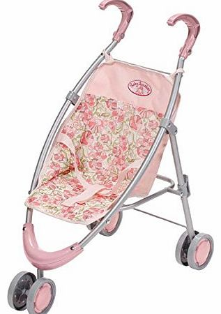 The strollers sheep handles are height-adjustable (upto 67cm) and there is a safety harness to keep  - CLICK FOR MORE INFORMATION