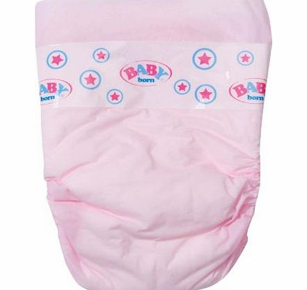 Pack of 5 baby born nappies. Suitable for ages 3 years + <font size=``1`` color=``#f50202``><strong><em>Safety Information:</em></strong> Wa (Barcode EAN = 4001167815816). - CLICK FOR MORE INFORMATION