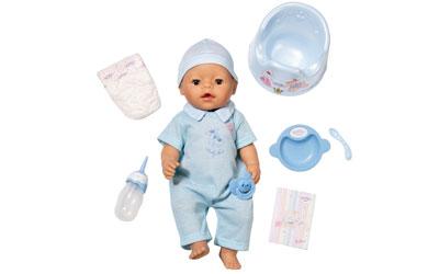 Беби борн - МАЛЬЧИК одет в очаровательный голубой костюмчик, все аксессуары, предлагаемые вместе с куклой также...