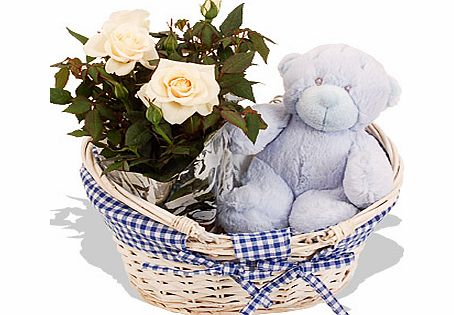 Baby Boy Hamper - flowers