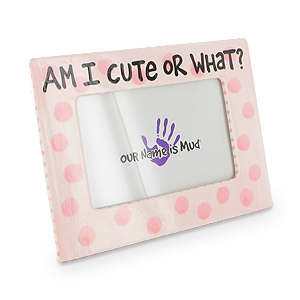 Girl Pink Am I Cute Personalization Photo