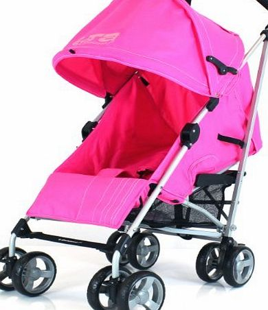 Baby Travel ZETA VOOOM - PINK   FREE Rain Cover Baby Stroller with Large Shade Maker sun canopy ideal for holidays