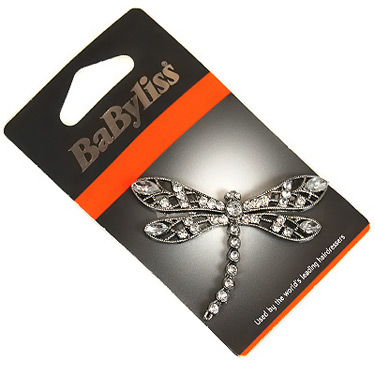Large Diamonte Dragon Fly Hair Clip