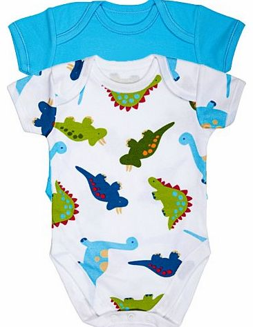 BabySafe Babywear 2Pk Boys Fashion Bodysuit (Size 6-9 months) Baby clothes - Great Gift