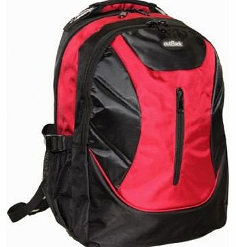 Outback 17 Inch Laptop Backpack Cabin Office Business Rucksack 8 Red PIECES PER BOX UNIT RED