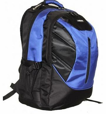 Outback 19 Inch Laptop Backpack College School Rucksack 8 MIX PIECES PER BOX UNIT black/blue/orange