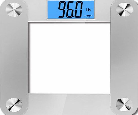 BalanceFrom High Accuracy MemoryTrack Plus Digital Bathroom Scale with ``Smart Step-On`` and MemoryTrack Technology, Extra Large Dual Color Backlight Display [NEWEST VERSION] (Silver) product image