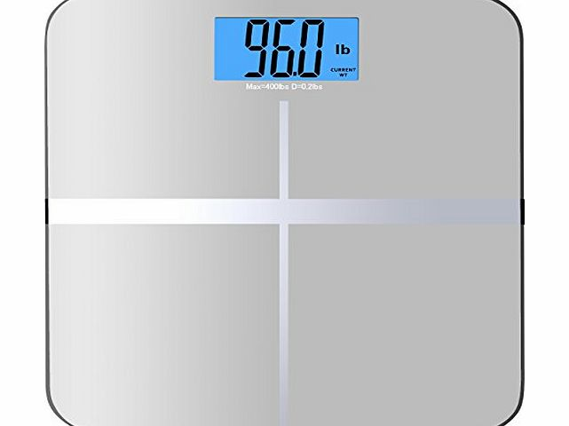 BalanceFrom High Accuracy MemoryTrack Premium Digital Bathroom Scale with ``Smart Step-On`` and MemoryTrack Technology, Extra Large Dual Color Backlight Display [NEWEST VERSION] (Silver) product image
