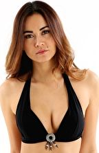 Banana Moon, 1295[^]237391 Black Jaho Push Up Halter - Black