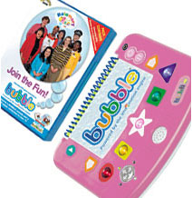 Bubble DVD Games Console (Pink) with Balamory