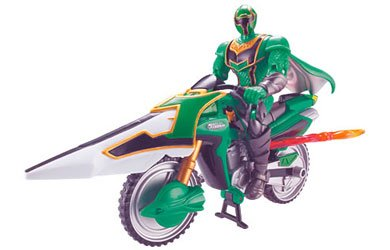 Bandai Power Rangers Mystic Force - Mystic Cycle/Speeder with Figure - Green Mystic Speeder