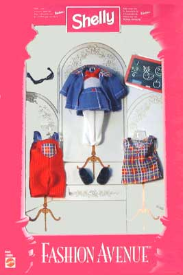 Avenue Dungarees Fashion avenue real clothes for Shelly doll Barbie