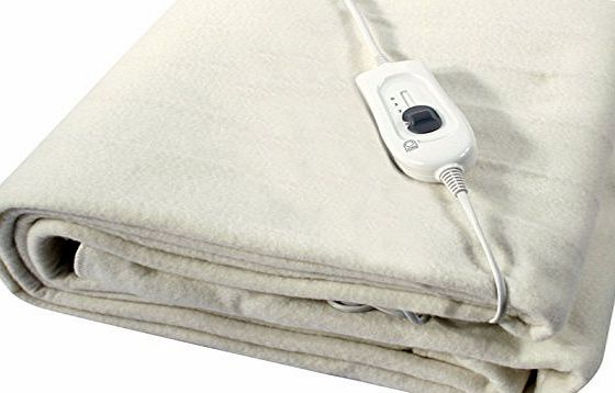 BARGAINS-GALORE KING / DOUBLE / SINGLE SIZE ELECTRIC BLANKET UNDER BED WARM NIGHT WASHABLE HEATED (60CM X 120CM SINGLE)