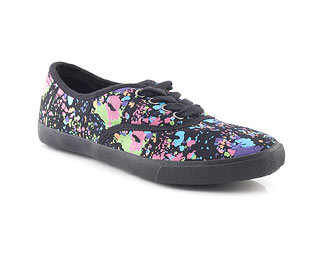 Canvas Pump With Paint Splash Effect -Size 10