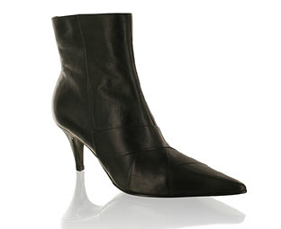 Barratts Chic Pleat Detail Ankle Boot - Size 10