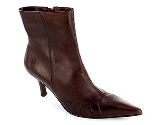 Barratts Elegant Leather Ankle Boot - Size 10