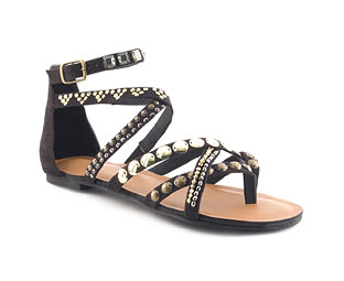Gladiator Sandal With Stud Detail