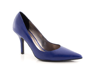 Leather Stiletto Court Shoe - Size 10