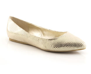 Metallic Ballerina With Pointed Toe